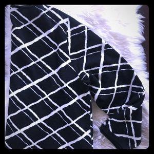 XL Marina Rinaldi Stripe Knit Long Sleeve Dress